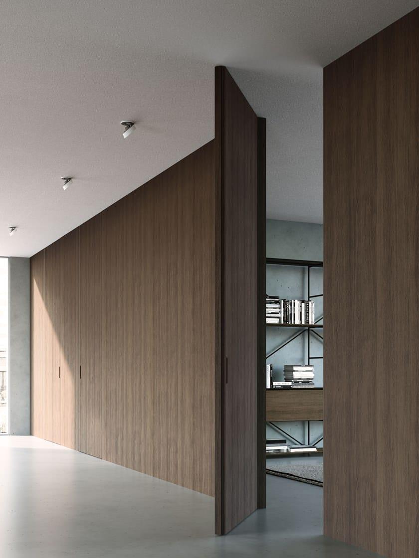 Porta Scorrevole Su Muro Portante porta a battente a filomuro in legno ala | porta a filo muro