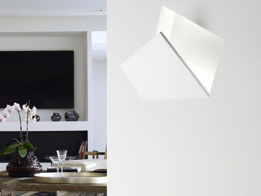 LED indirect light recessed wall lamp ALA by Sforzin