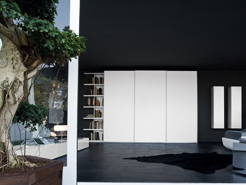 Sectional wardrobe with sliding doors ALA | Wardrobe with sliding doors by Silenia