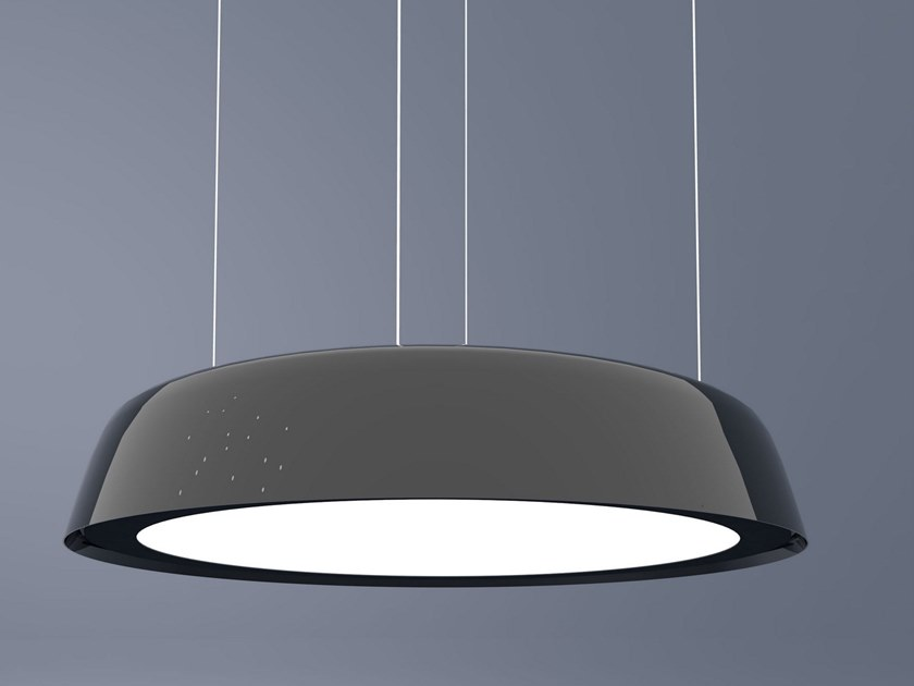 Contemporary style LED direct light PMMA pendant lamp ALABAMA by Makris