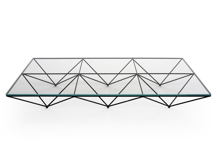 Rectangular glass and steel coffee table ALANDA '18 by B&B Italia