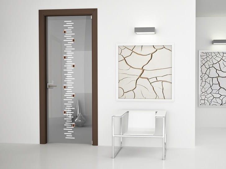Hinged glass door ALASKA | Hinged door by Bertolotto Porte