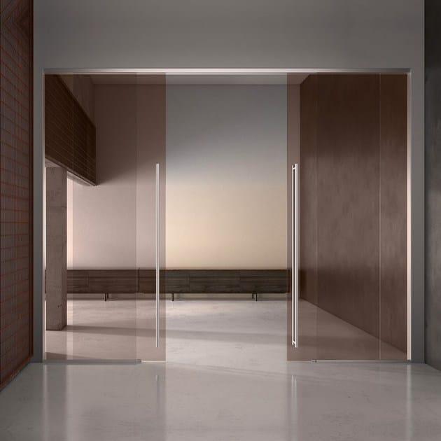 Porta scorrevole in vetro satinato ALASKA PLANA - Bertolotto Porte