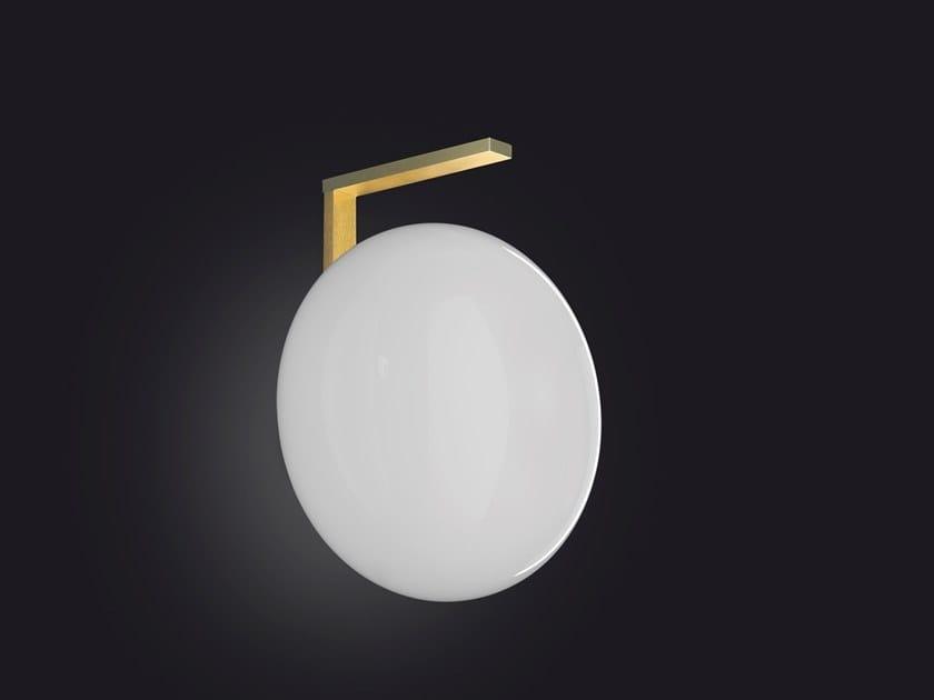 Lámpara de pared de vidrio soplado con luz directa ALBA 174 / 194 by Oluce