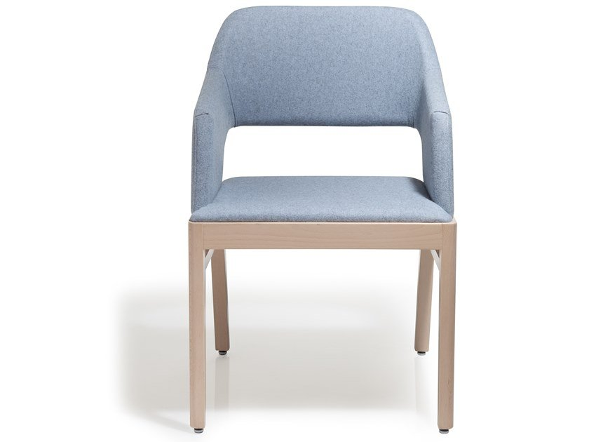 Upholstered chair with armrests ALBA | Chair with armrests by Blifase