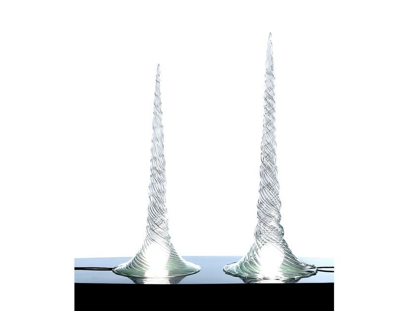 Handmade blown glass table lamp ALBA by ERBA ITALIA