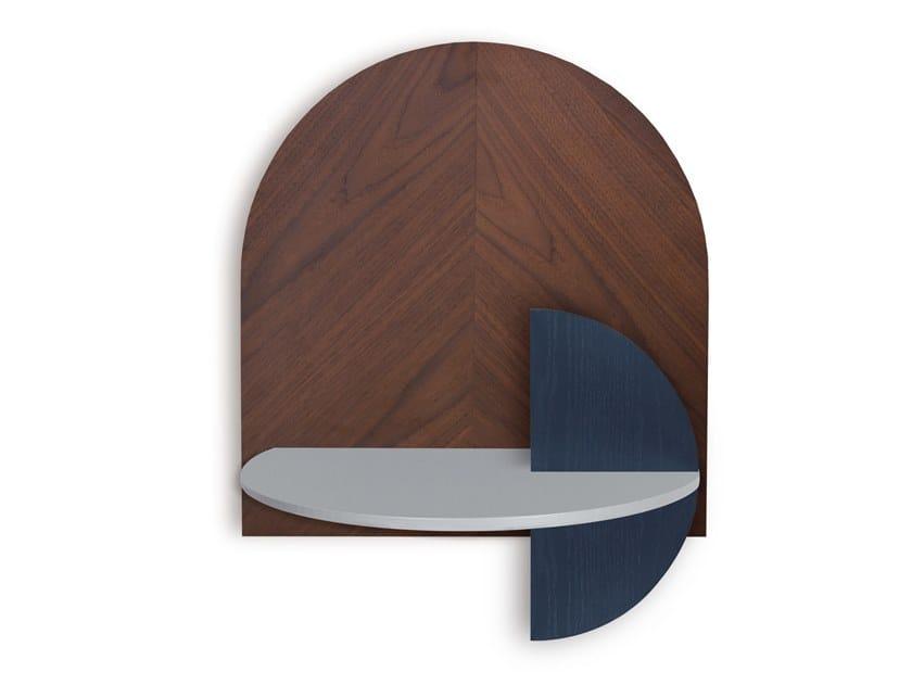 Comodino sospeso in legno ALBA L - HERRINGBONE by Woodendot