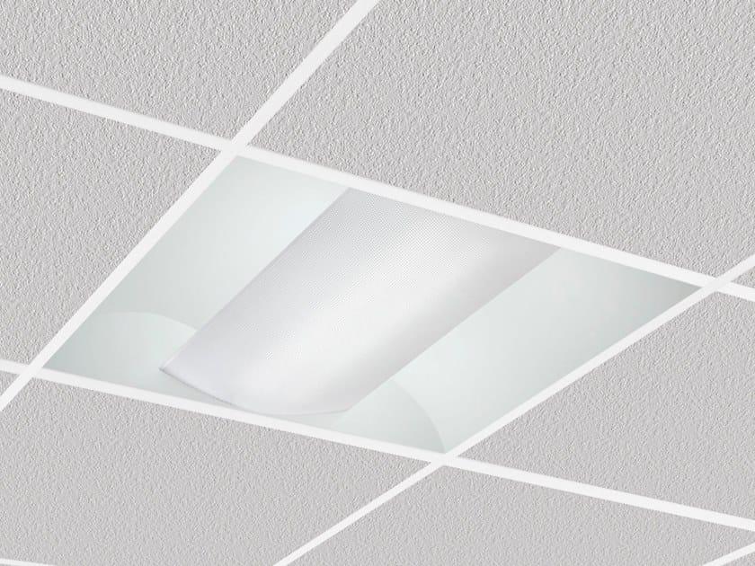 LED direct light recessed Lamp for false ceiling ALBA 9145 by Metalmek