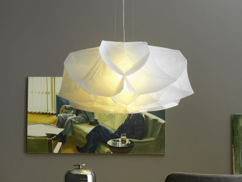 Lampada a sospensione in tessuto ALBEDO Medium by FontanaArte