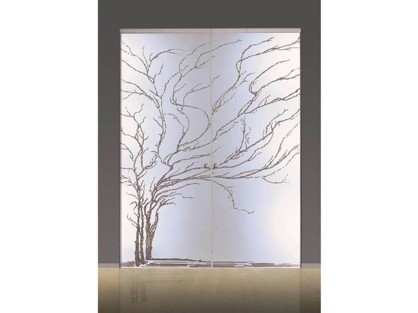 Glass pocket sliding door ALBERO by Casali