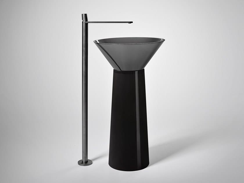 Lavabo freestanding in Cristalmood® ALBUME CONO by Antonio Lupi Design