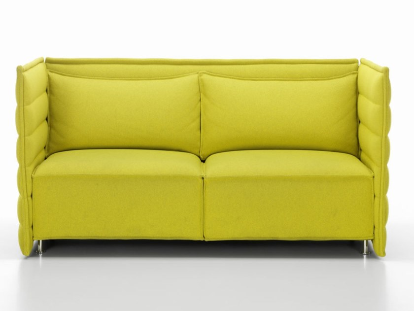 2 seater fabric sofa with removable cover ALCOVE PLUME CONTRACT TWO-SEATER by Vitra