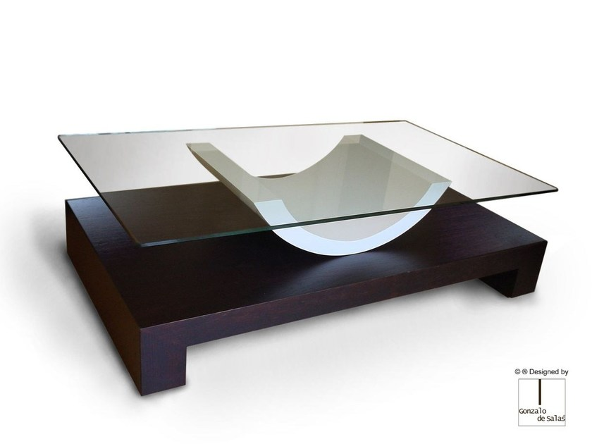 Glass coffee table ALDEBARAN by Gonzalo De Salas