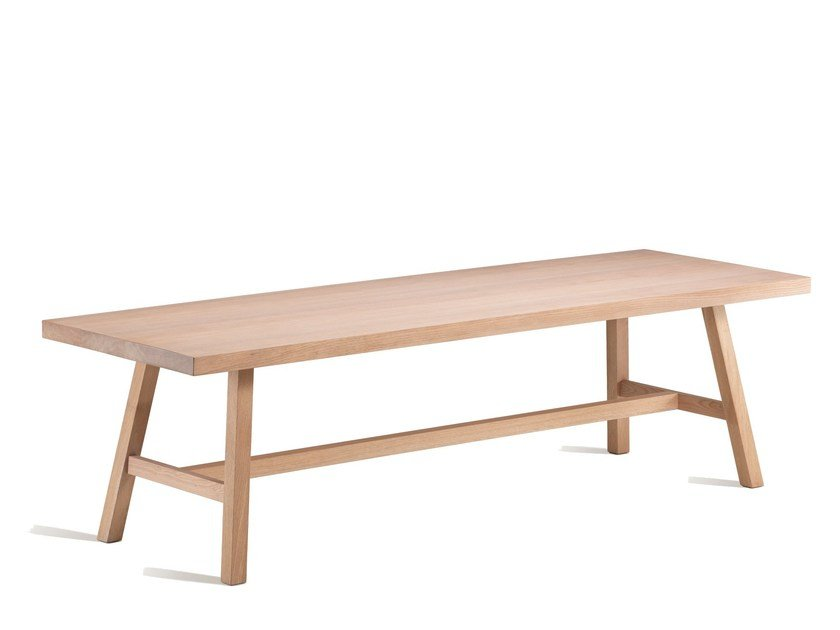 Rectangular oak dining table ALDO by L'Origine