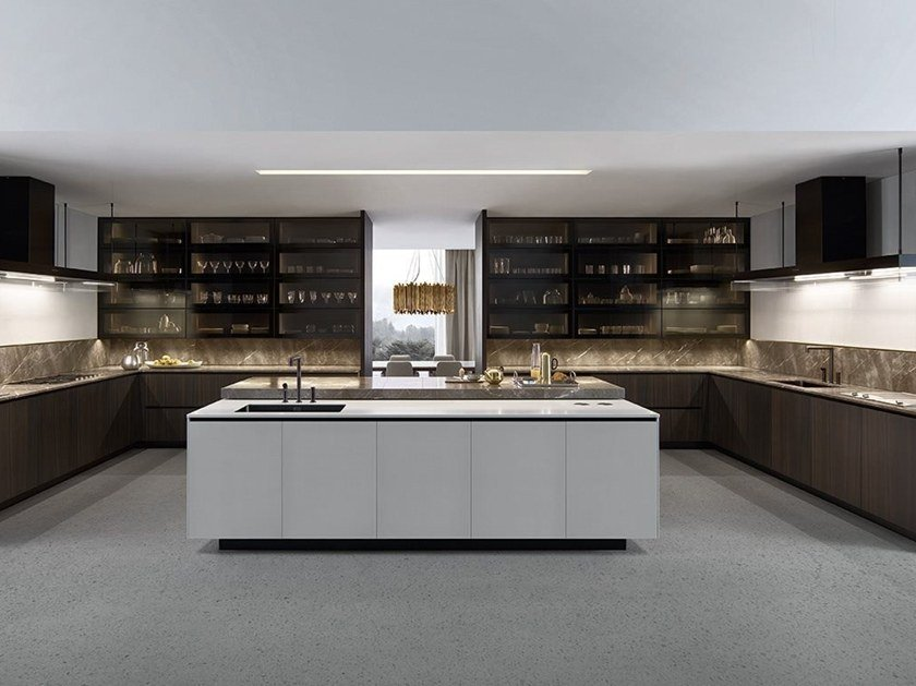 Cucina componibile ALEA By poliform design Paolo Piva