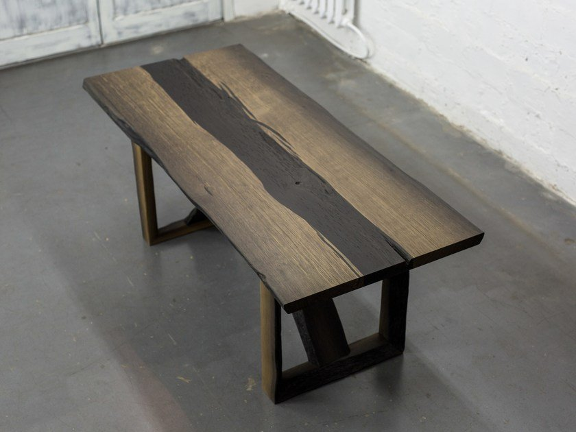 Rectangular bog oak dining table ALEHANDRO by EDWOOD