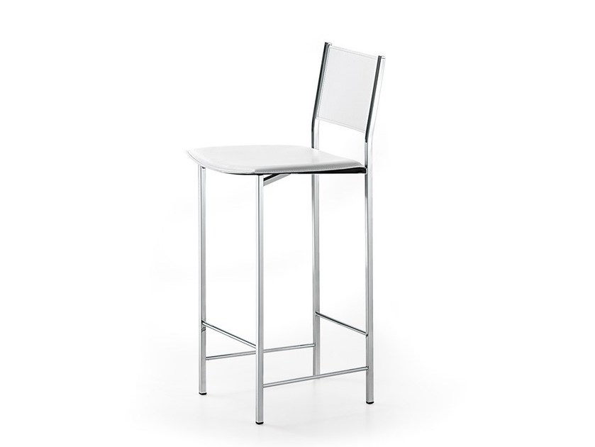 Tanned leather stool ALESSIO by Cattelan Italia