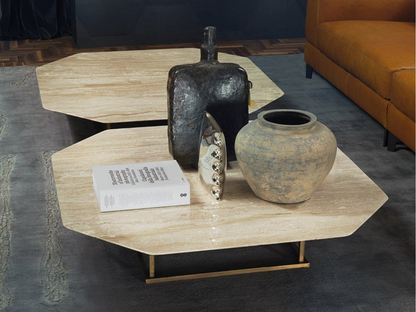 Octagonal marble coffee table ALEX by Borzalino