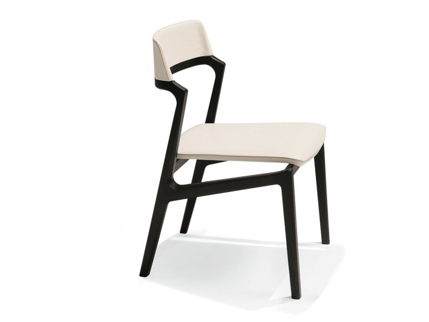 Open back ash chair ALEXA | Chair by GIORGETTI