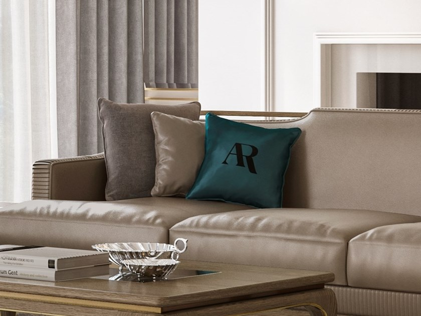 Solid-color square sofa cushion ALEXANDER   Cushion by A.R. Arredamenti