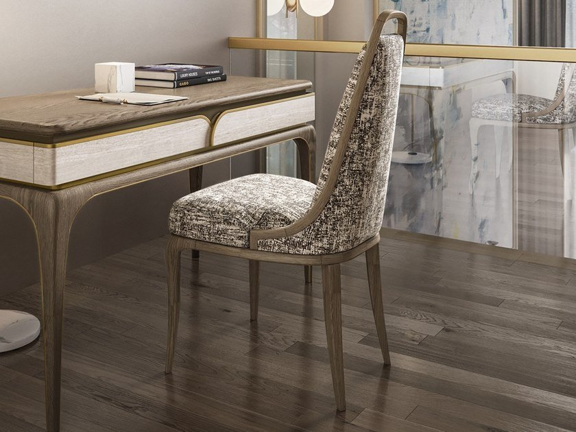 Upholstered fabric chair ALEXANDER | Fabric chair by A.R. Arredamenti
