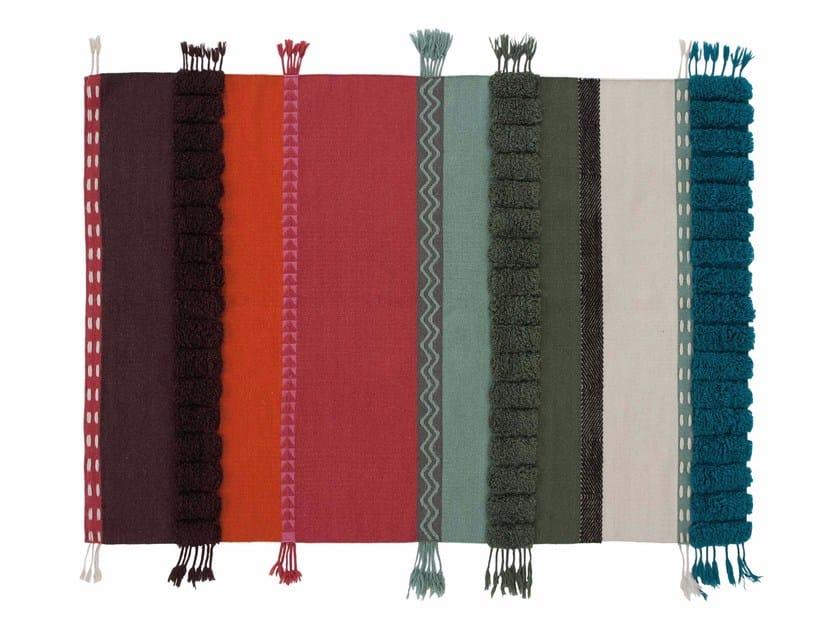 Striped wool rug ALEXANDRA by GAN