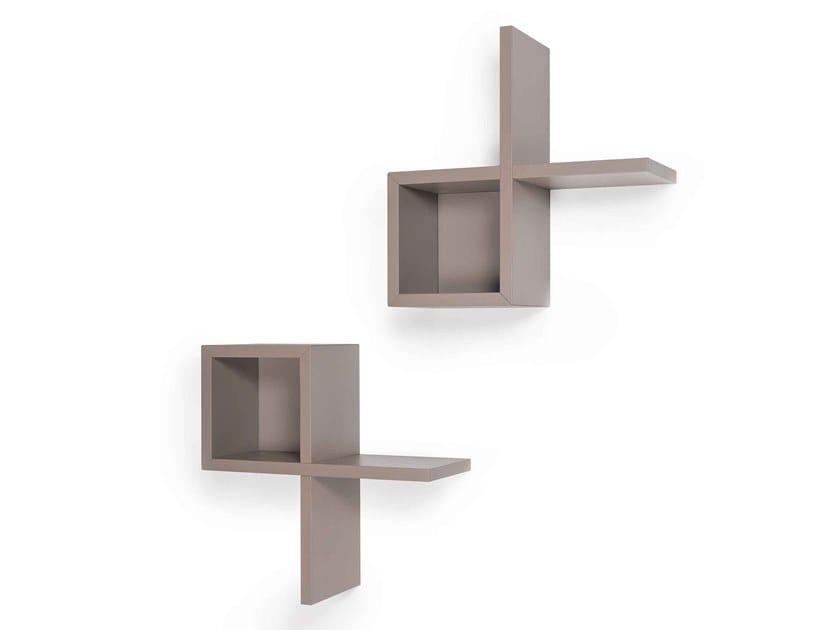 Modular MDF wall shelf ALF by ARKOF LABODESIGN