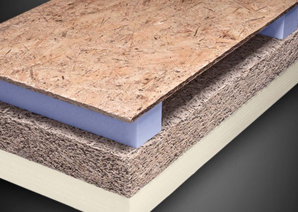 Synthetic material thermal insulation panel ALGOPAN PIR LC by Ediltec