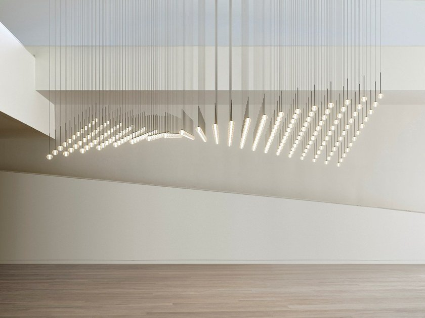 LED blown glass pendant lamp ALGORITHM by Vibia
