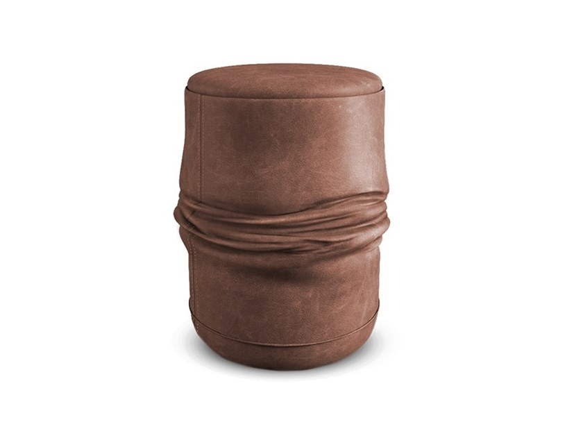 Leather stool ALI by Collector