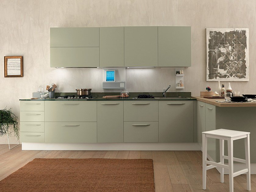 Fitted Kitchen With Peninsula ALICANTE NATURE U0026 FAMILY By Febal Casa