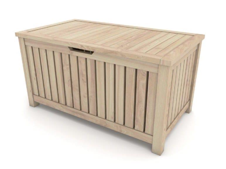 Panca da giardino in abete con contenitore ALICANTE by Zuri Design