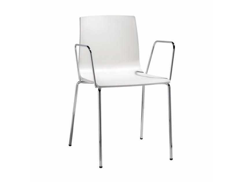 Sedie Con Braccioli Design.Alice Sedia Con Braccioli