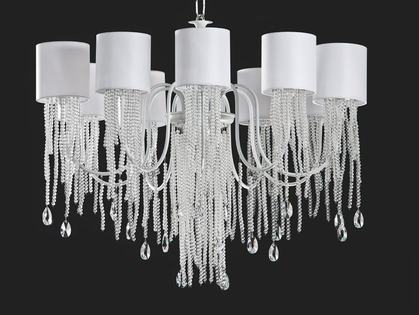 LED chandelier with crystals ALICE | Chandelier by Aiardini