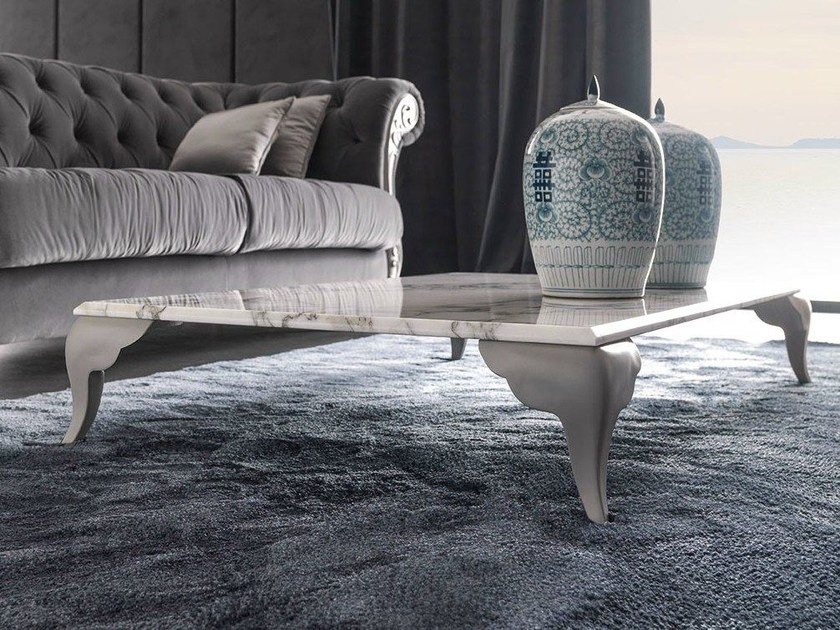 Marble coffee table for living room ALICE | Coffee table for living room by CorteZari