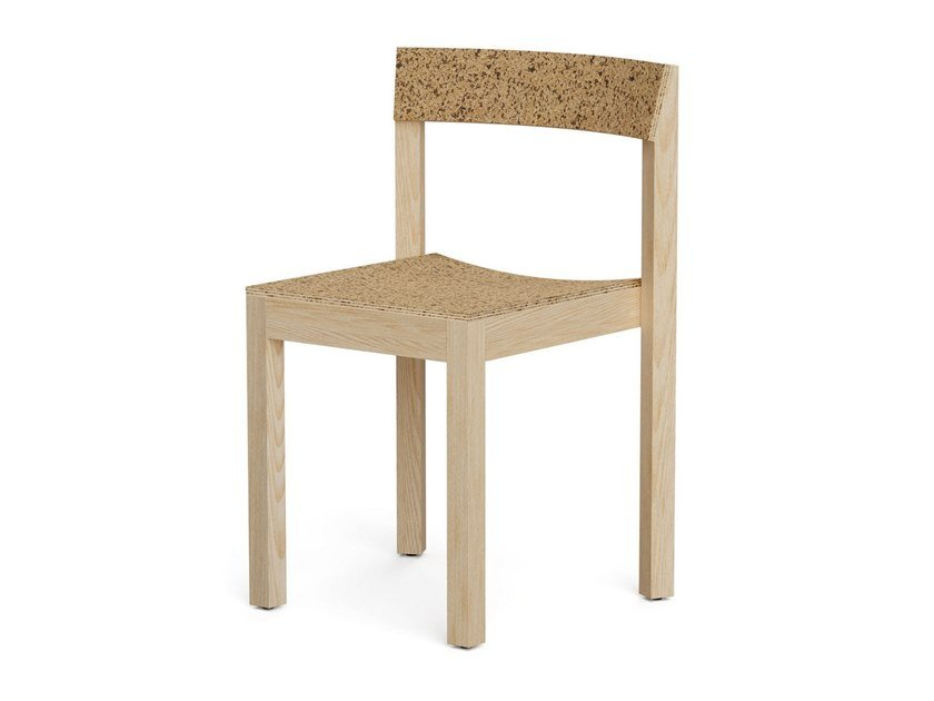 Ash and cork chair ALICE by DAM