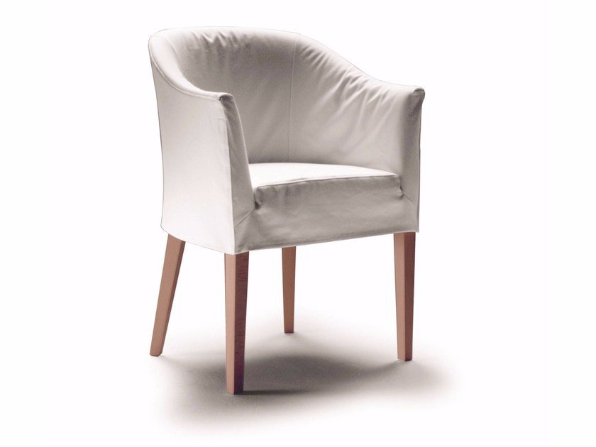 Easy chair with removable cover with armrests ALICE by FLEXFORM