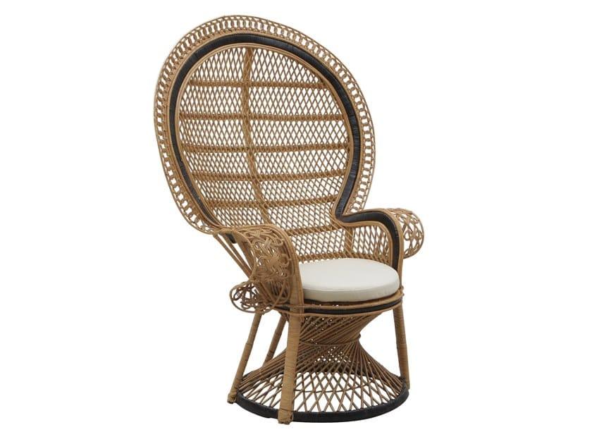 High-back rattan garden armchair ALICE | Garden armchair by Il Giardino di Legno