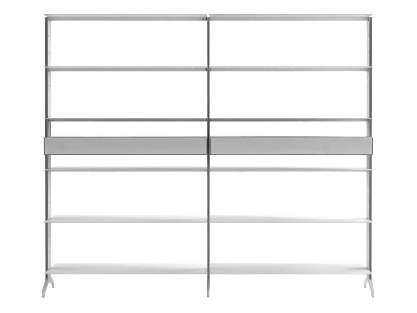 Offenes modulares Bücherregal aus Aluminium ALINE - J03 by Alias