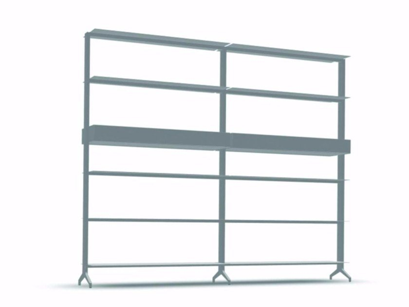 Open modular aluminium bookcase ALINE - J03 by Alias
