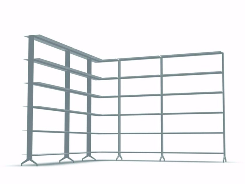 Open modular aluminium bookcase ALINE - J05 by Alias