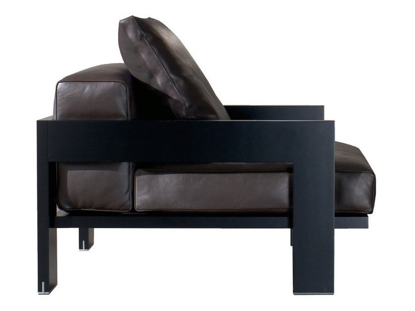 Armchair ALISON BLACK LAC. ARMCHAIR By Minotti