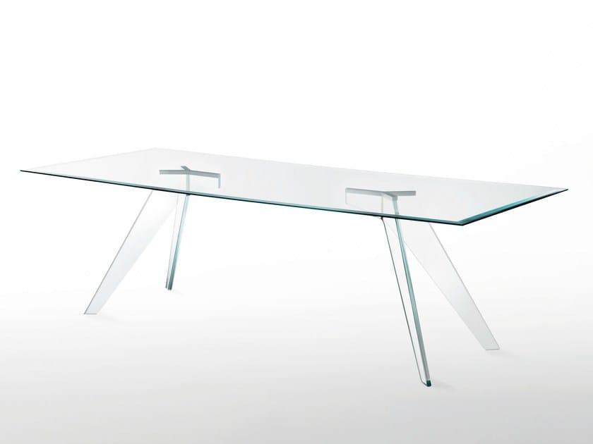 Tavolo rettangolare in cristallo ALISTER | Tavolo rettangolare by Glas Italia