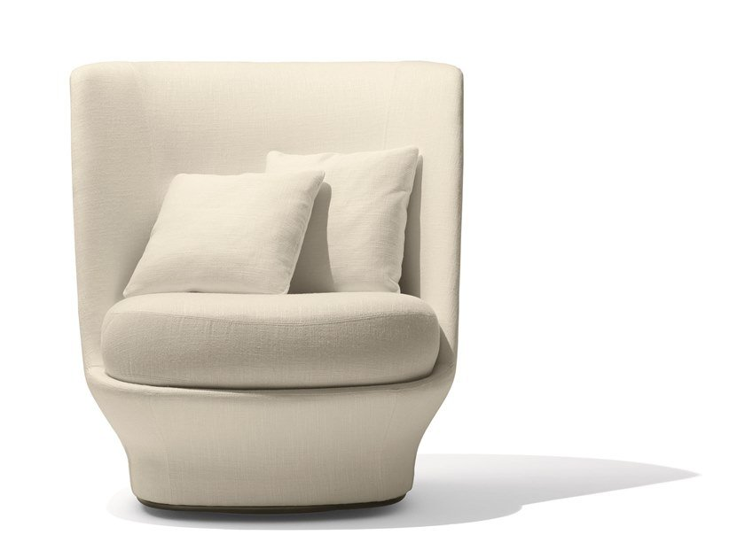 Swivel high-back fabric armchair ALL AROUND   High-back armchair by GIORGETTI