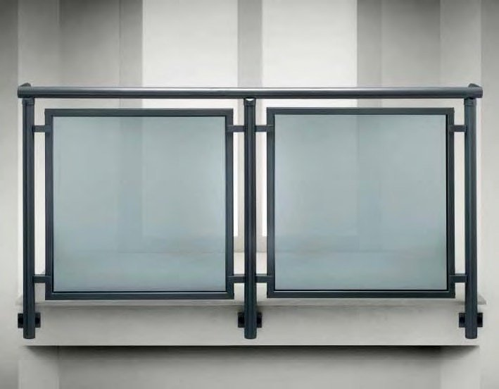 Baranda En Aluminio Y Vidrio Para Balcones All Glass 60 All Mix 60 - Balcones-aluminio