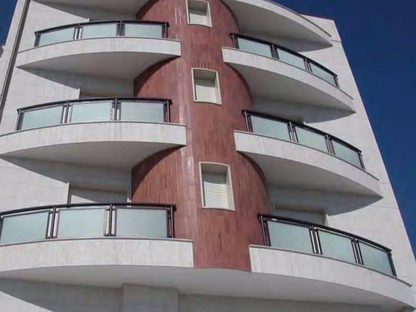 Parapetto in alluminio e vetro per finestre e balconi ALL GLASS - ALL MIX | Parapetto by Siamesi