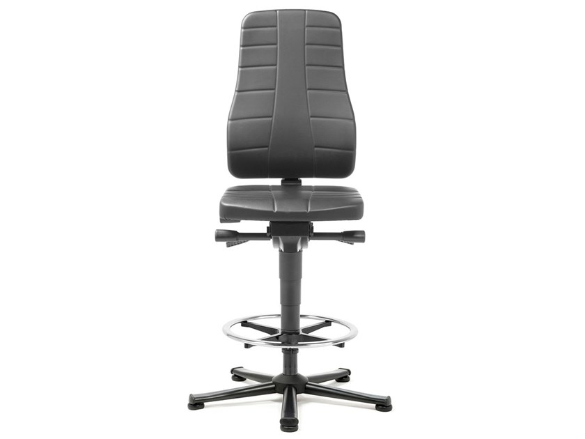 Task chair with 5-Spoke base with casters ALL-IN-ONE 9641 by bimos