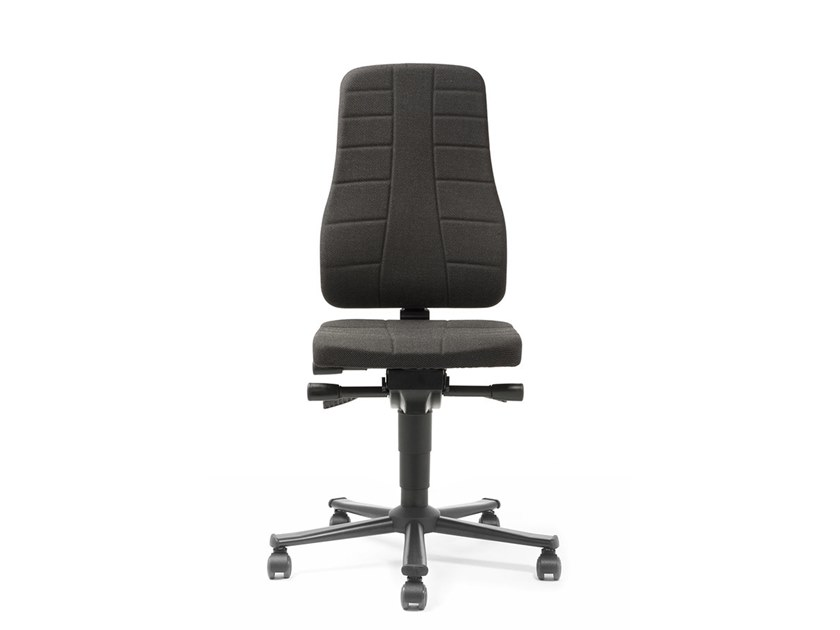 Task chair with 5-Spoke base with casters ALL-IN-ONE 9643 by bimos
