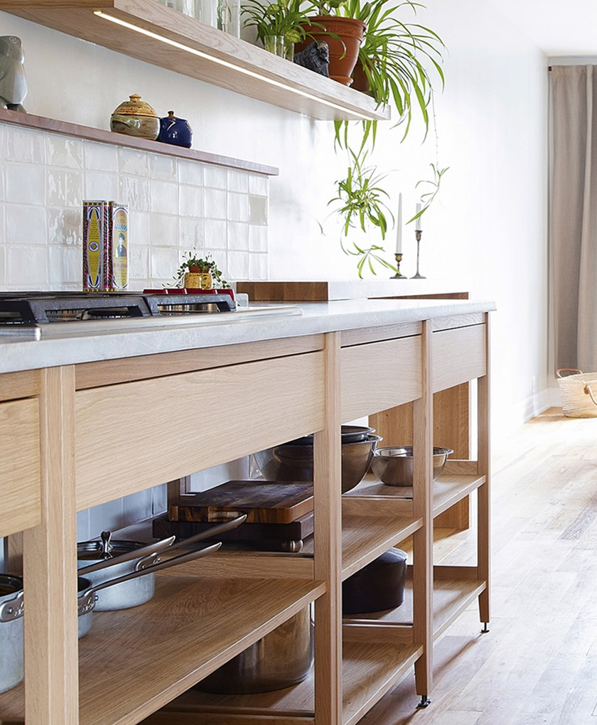 Modulo cucina freestanding in legno massello ALL WOOD RADIX | Cucina ...
