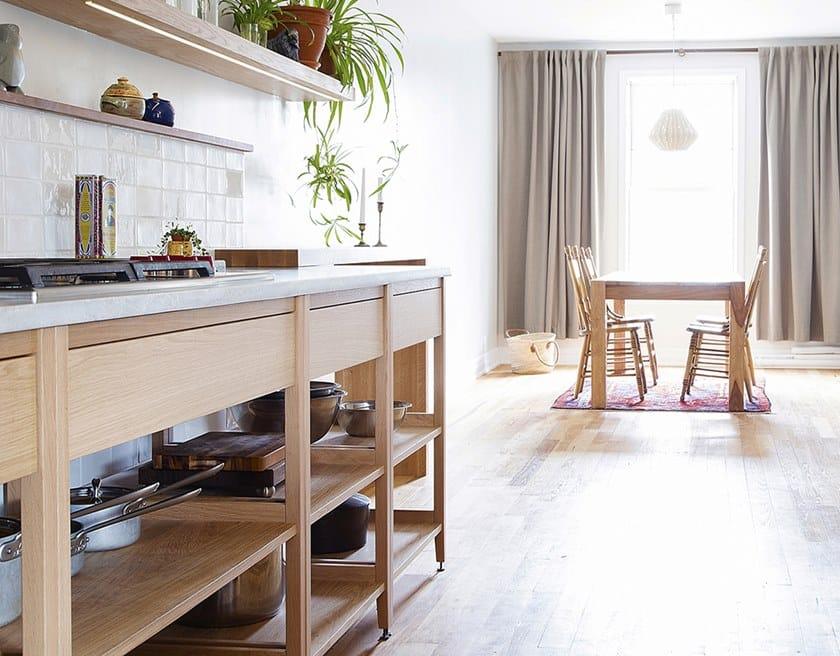 Modulo cucina freestanding in legno massello ALL WOOD RADIX   Mobile ...